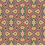 Modèle sans couture dans des couleurs traditionnelles de Noël Fond abstrait ornemental lumineux Motifs ethniques et tribals Image stock