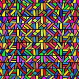 Modèle sans couture dans le style de verre coloré Géométrique multicolore illustration libre de droits
