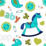Modèle sans couture de bébé garçon coloré Photos stock