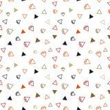 Modèle sans couture de bague à diamant Image stock