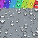 Modèle sans couture de baisses transparentes de l'eau Photographie stock