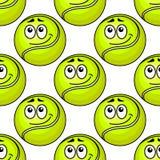 Modèle sans couture de balle de tennis Image libre de droits