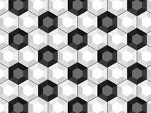 Modèle sans couture de ballon de football noir et blanc illustration stock