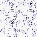 Modèle sans couture de banane sur le blanc Photo libre de droits