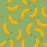 Modèle sans couture de bananes Images libres de droits