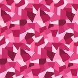 Modèle sans couture de bas polygones roses abstraits illustration libre de droits