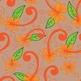 Modèle sans couture de batik de chemise de fleur Images libres de droits