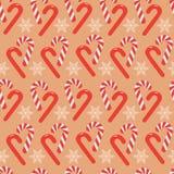 Modèle sans couture de beau de Noël bâton de sucrerie illustration de vecteur