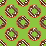 Modèle sans couture de beignet Photo libre de droits