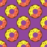 Modèle sans couture de beignet Image libre de droits
