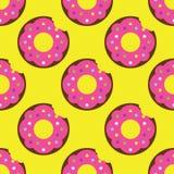 Modèle sans couture de beignet Photographie stock libre de droits