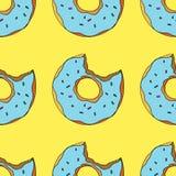 Modèle sans couture de beignets illustration de bande dessinée pour le design de carte, le menu, le tissu et le papier peint de s illustration stock