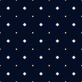 Modèle sans couture de bleu marine avec les losanges blancs Photo libre de droits