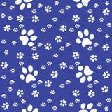 Modèle sans couture de bleu marine de pattes, fond de patte, illustration de vecteur illustration stock