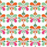 Modèle sans couture de boho ethnique Drapeau des fleurs Background Texture de griffonnage Broderie sur le tissu Motif folklorique illustration de vecteur
