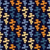 Modèle sans couture de boho ethnique Ornement traditionnel Fond géométrique Configuration tribale Motif folklorique Image stock