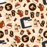 Modèle sans couture de boissons de café d'expresso illustration stock