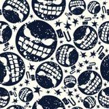 Modèle sans couture de bombe de Halloween illustration stock