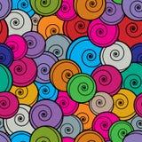 Modèle sans couture de boucles colorées Photo libre de droits