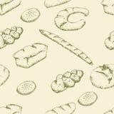 Modèle sans couture de boulangerie Images stock