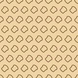 Modèle sans couture de boulangerie se composant de la ligne style de pain pour le pain Photos libres de droits