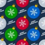 Modèle sans couture de boule de Noël de bande dessinée Photos stock