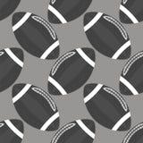 Modèle sans couture de boule de football américain d'isolement sur Grey Background Icône de sport de rugby Illustration Stock