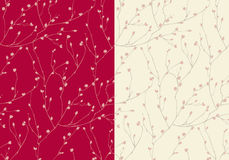 Modèle sans couture de bourgeon floraux Illustration de Vecteur