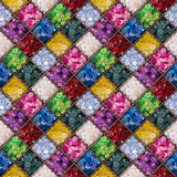 Modèle sans couture de boutons colorés Image libre de droits