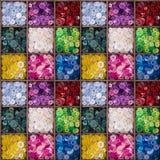 Modèle sans couture de boutons colorés Photo libre de droits
