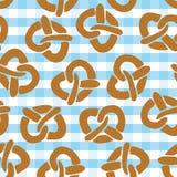 Modèle sans couture de bretzel pour Oktoberfest illustration de vecteur