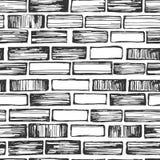 Modèle sans couture de brique illustration stock