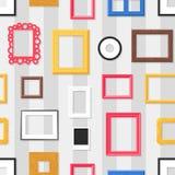 Modèle sans couture de cadre de photo Photographie stock libre de droits