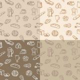 Modèle sans couture de café Image libre de droits