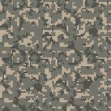 Modèle sans couture de camo de pixel gris Texture militaire de camouflage de désert illustration libre de droits