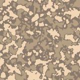 Modèle sans couture de camouflage avec la mosaïque des taches abstraites Fond de camo d'armée de militaires et de désert dans bru illustration de vecteur