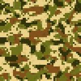 Modèle sans couture de camouflage de chiffre illustration stock