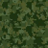 Modèle sans couture de camouflage de vert de pixel de Digital pour votre conception Les militaires d'habillement dénomment Image libre de droits