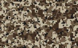 Modèle sans couture de camouflage de pixel de Digital pour votre conception Tissu militaire de camouflage de couleur de désert illustration stock