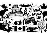 Modèle sans couture de Canada illustration de vecteur