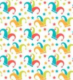 Modèle sans couture de carnaval Texture répétitive de Purim Vacances, mascarade, festival, partie Fond sans fin, contexte illustration de vecteur