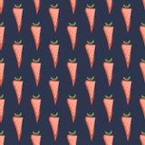 Modèle sans couture de carotte Photos stock