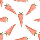 Modèle sans couture de carotte Photos libres de droits