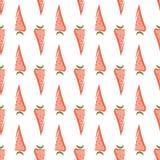 Modèle sans couture de carotte Images libres de droits