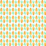 Modèle sans couture de carotte d'aquarelle Vacances de Pâques Pour la conception, la carte, la copie ou le fond Photos stock