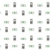 Modèle sans couture de carte de crédit de lecteur de dispositif illustration stock
