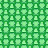 Modèle sans couture de cellules vertes Images libres de droits