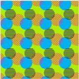 Modèle sans couture de cercle à chaînes cassé illustration de vecteur