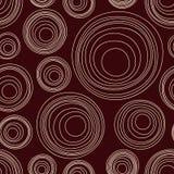 Modèle sans couture de cercles asymétriques abstraits Ornement indigène australien illustration libre de droits