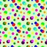 Modèle sans couture de cercles colorés Photographie stock